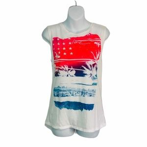 American Eagle Outfitters Love the USA Muscle Tee